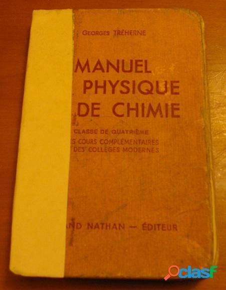 Manuel de physique et de chimie, georges tréherne