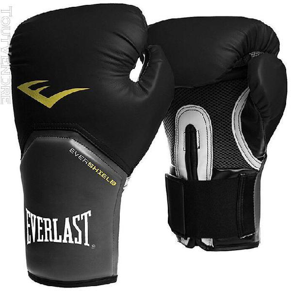 "gants de boxe everlast ""elite""10 oz - blanc---10 oz - blanc-"