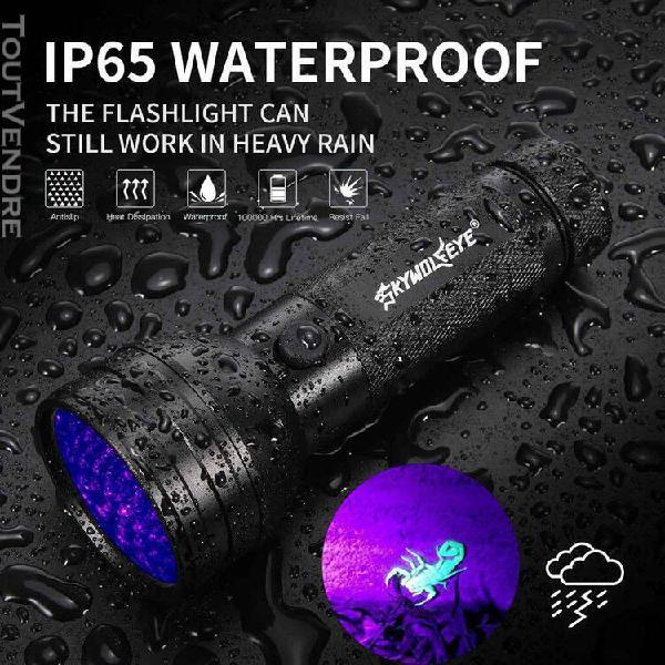 lampe de poche 51 led uv scorpion détecteur hunter ultra