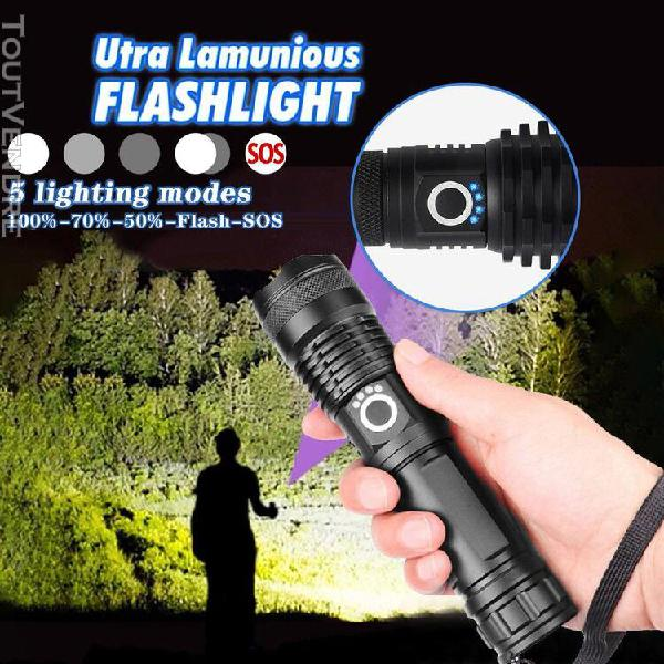 lampe torche ultra bright xhp50 5 modes led usb rechargeable