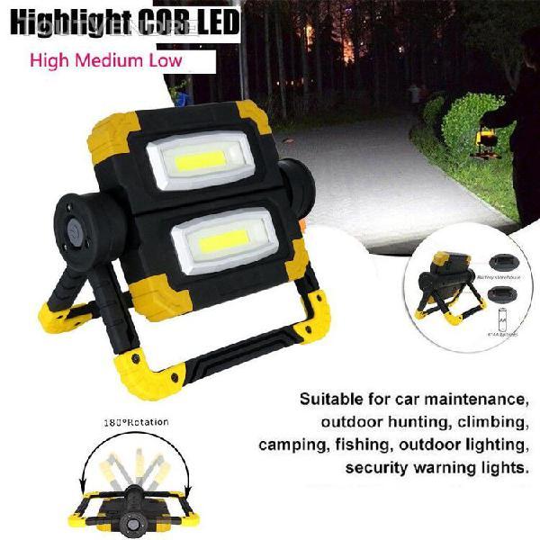 led projecteur lampe de travail 4 x aa batterie extérieure