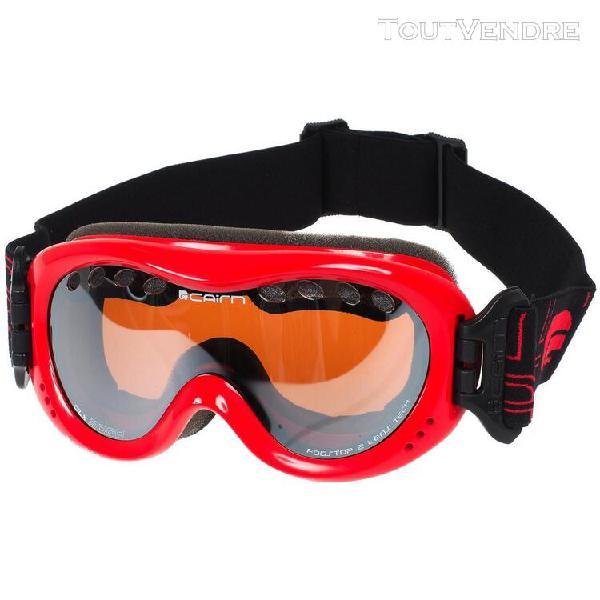 masque de ski double Écran cairn booster 6-12ans rouge