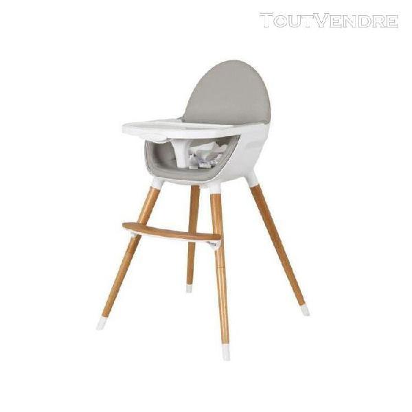 tanuki chaise haute ergonomique en bois (2 positions) - blan