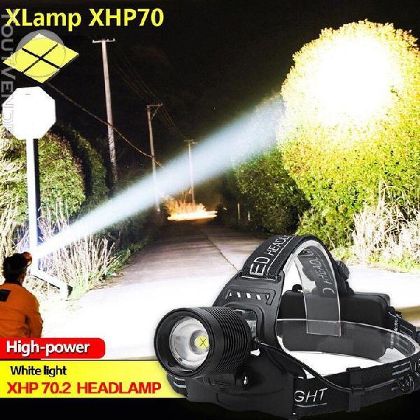 xhp70 led projecteur phare reachargable zoom lampe torche 18