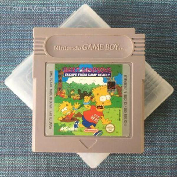 Bart simpson's - escape from camp deadly pour game boy ninte