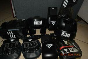 Ensemble équipement boxe adidas gants pattes d'ours