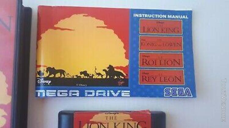 "Jeu sega mega drive disney "" le roi lion "" complet en boite"