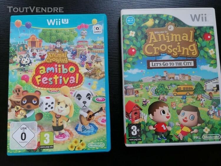 Jeux wii nintendo animal crossing amiibo festival + let s go
