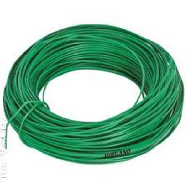 lien fil acier plastifié, diam.2,2mm, long 25m.....