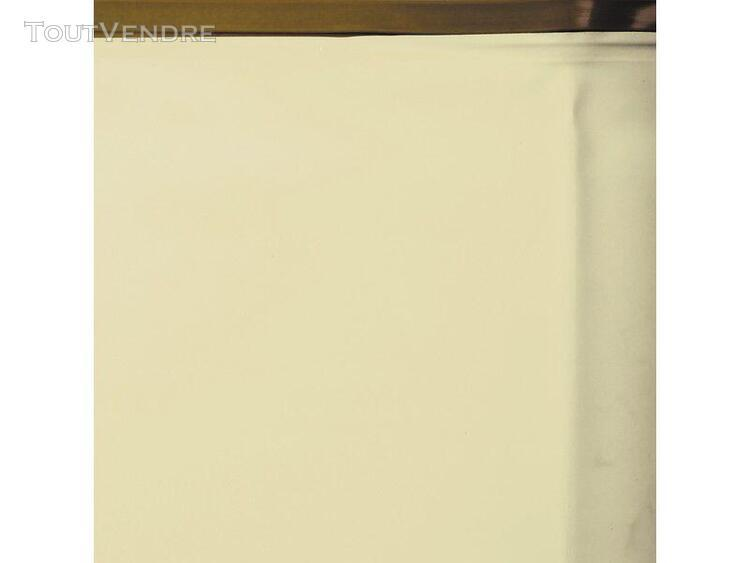liner beige pour piscine en bois 511 x 124 cm gre 786214