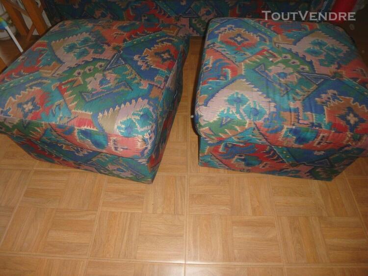 Lot 2 poufs /repose pieds ikea vintage