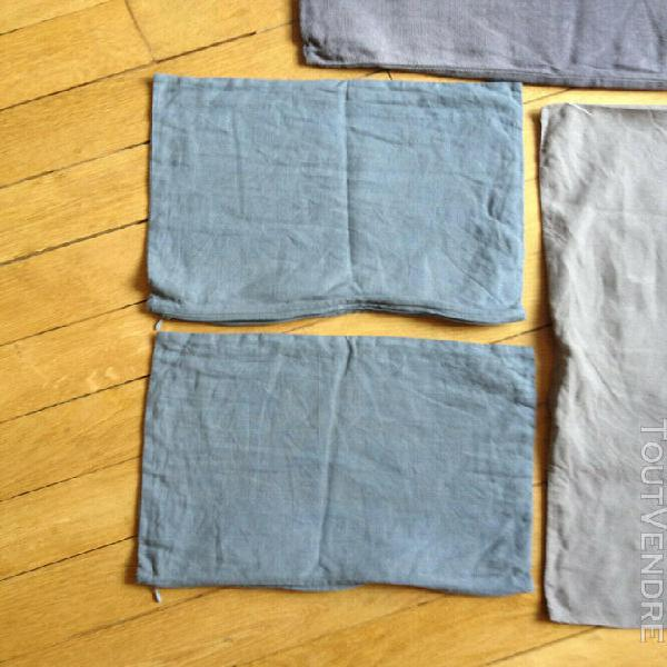 lot linge lit lin coussin society italy