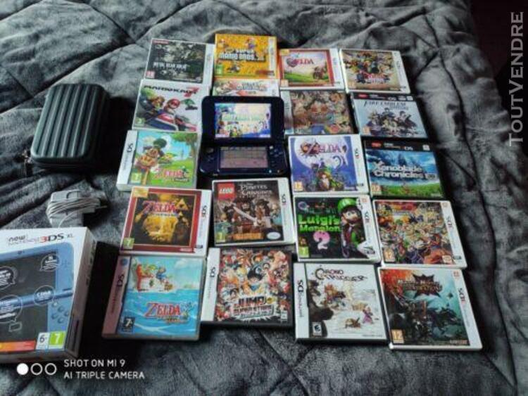 Lot new 3ds xl + 19 jeux