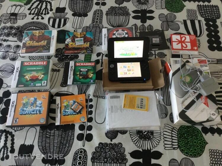 Nintendo 3ds xl grise en boite + 4 jeux - complet et comme n
