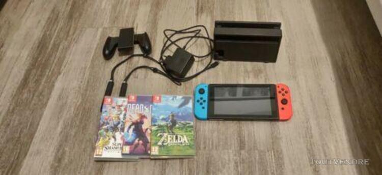 Nintendo switch + jeux + garantie