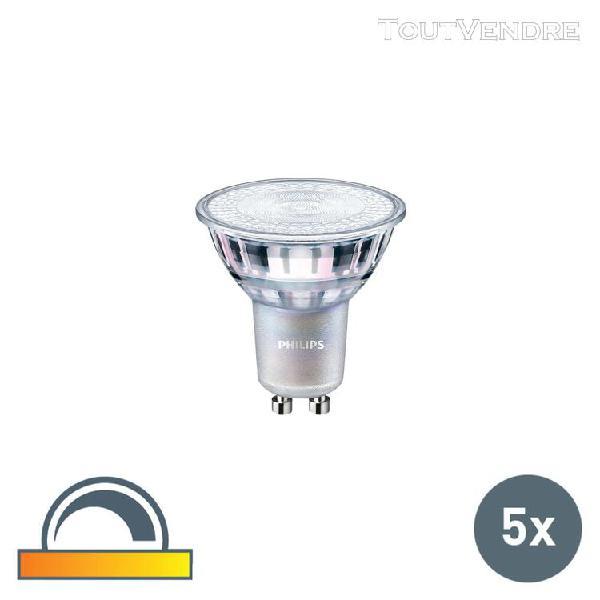 Philips set van 5 gu10 philips led lampen 4,5w 245 lm 2200k