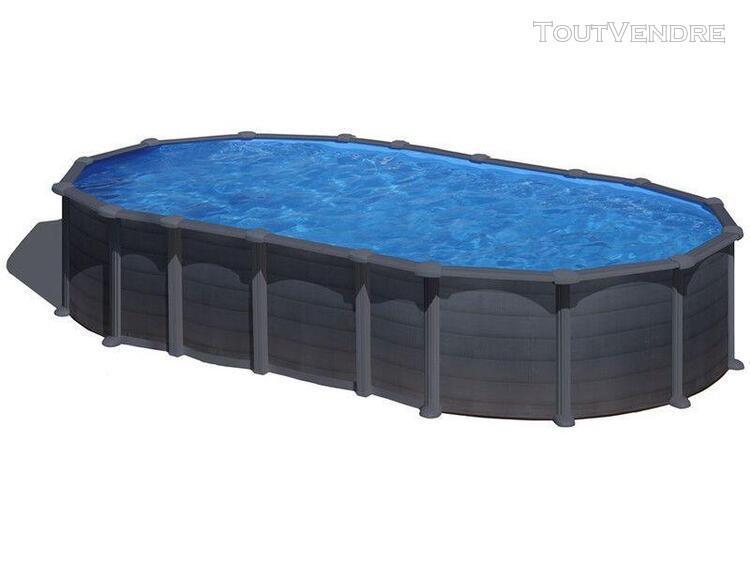 piscine aspect graphite ovale 610 x 375 x 132 cm capri gre k