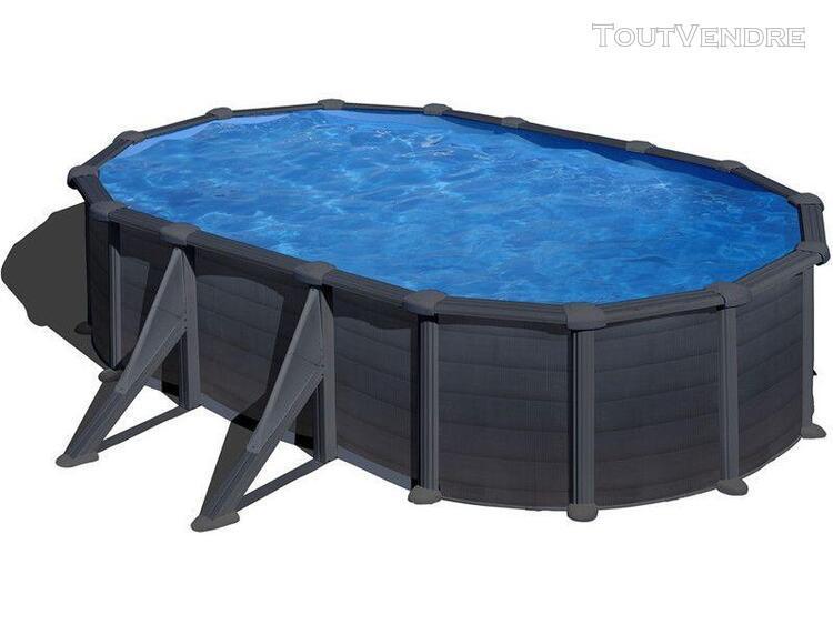 piscine aspect graphite ovale 730 x 375 x 120 cm kea gre kit