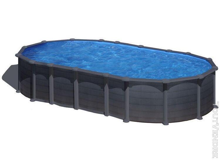 piscine aspect graphite ovale 730 x 375 x 132 cm capri gre k
