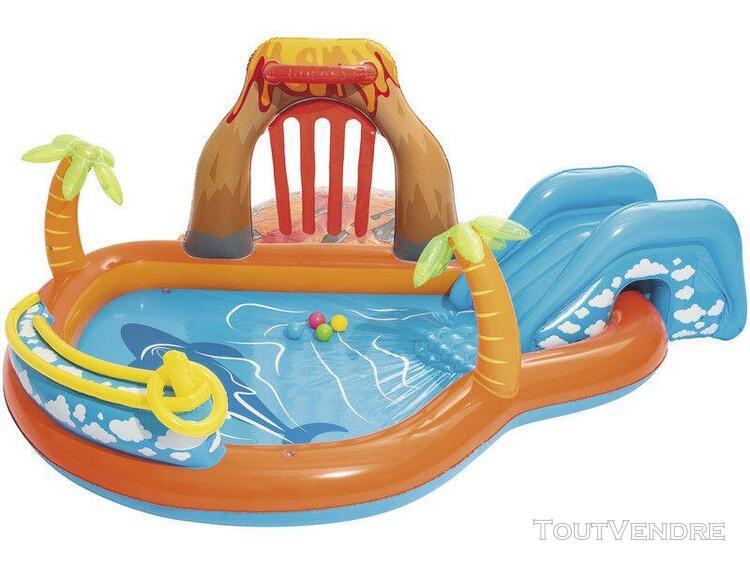 piscine ile volcan 265 x 265 x 104 cm bestway 53069
