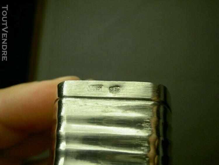 rond de serviette en métal argenté art déco