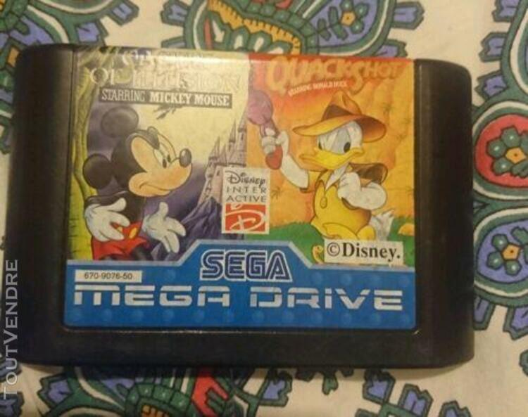 Sega mega drive,disney quackshot and castle of illusion