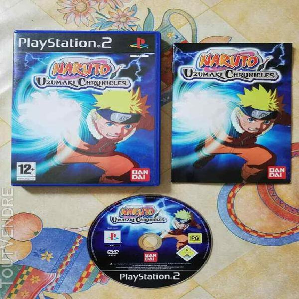 Jeux vidéo console naruto uzumaki chronicles + notice -