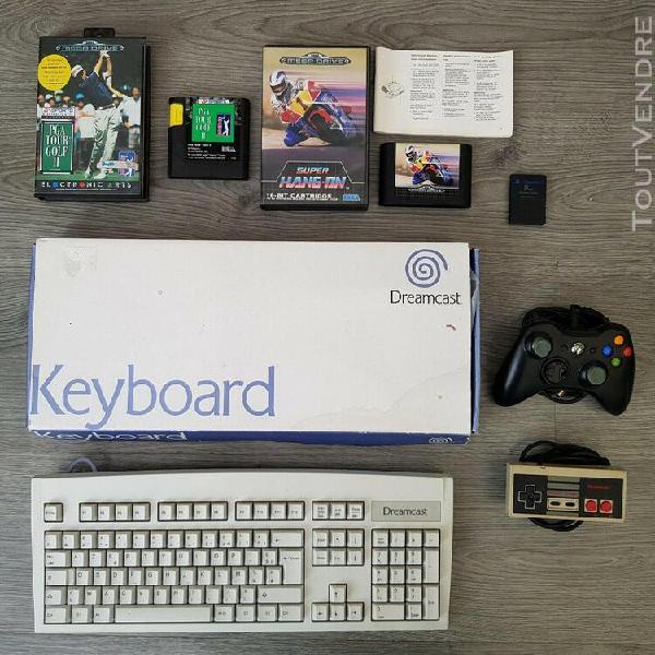 Lot sega clavier dreamcast + jeux megadrive + manette ninten