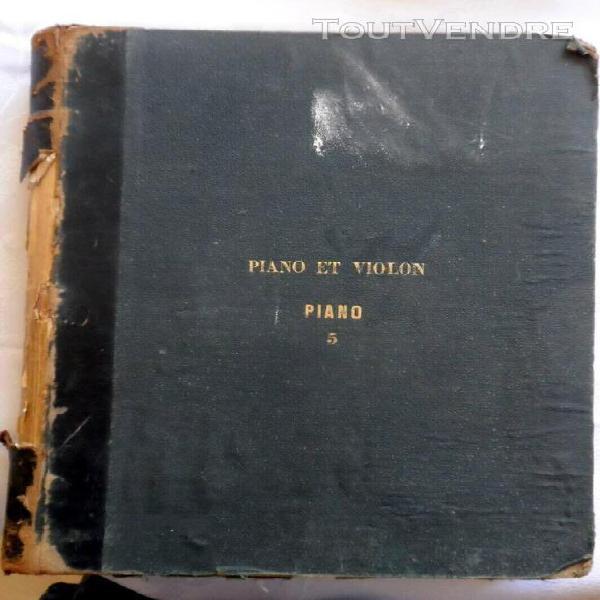 ancien livre de partitions pour piano et violon