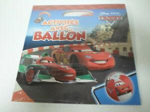 Ballon de plage disney cars + livre activite neuf