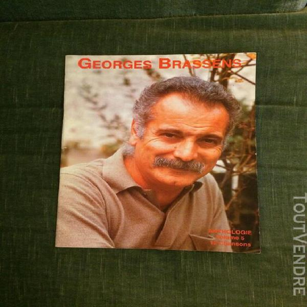 georges brassens anthologie volume 5 partition score chant p