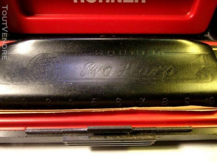 "harmonica hohner pro harp noir + notice en boite d'origine """