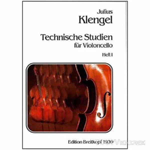 klengel, etudes techniques pour violoncelle volume 1 / techn