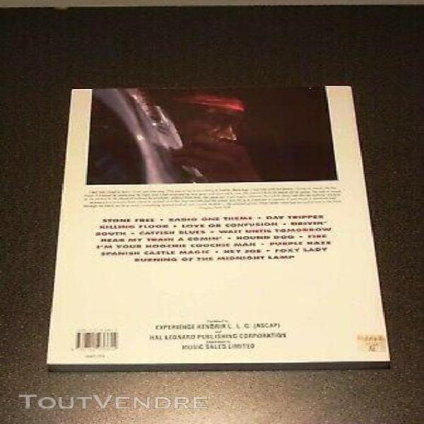 "livre de partitions hendrix "" radio one "" / guitare / chant"