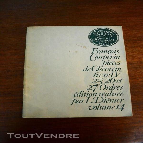 partition françois couperin pièces de clavecin livre iv,