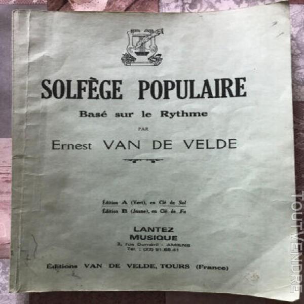 solfege populaire - base sur le rythme - edition a (vert) 19