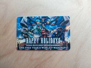 World of warcraft une année pré-payée jeu carte