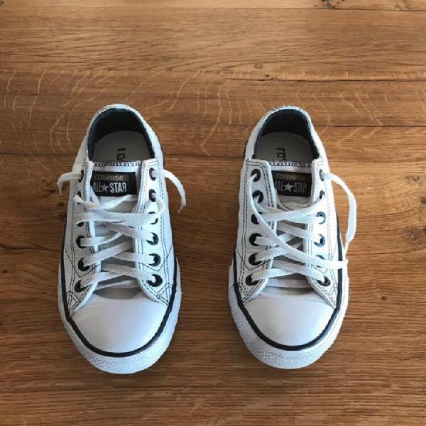 Baskets converse cuir blanc