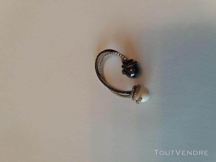 Pendentif argent rhodie perle agate et perle hematite jean d