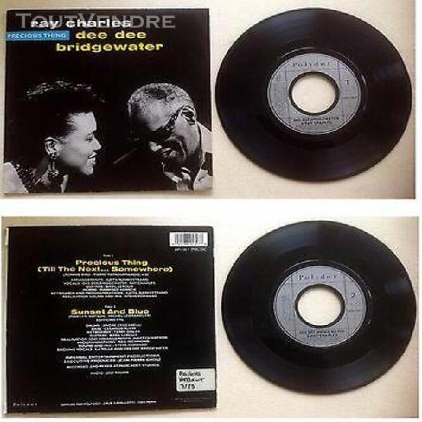Ray charles & dee dee bridgewater disque vinyl 45t 2 titres