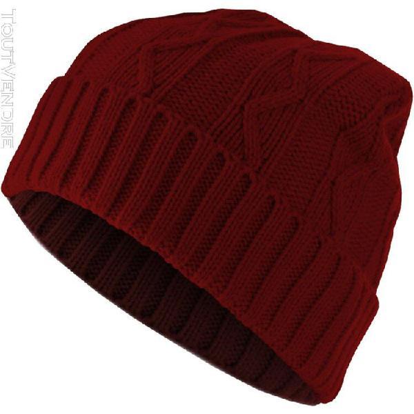 Urban classics beanie bonnet - cable flap noir