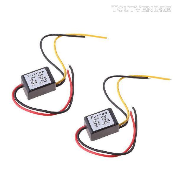 2 pcs dc-dc step-down module d'alimentation 12v (8-20v) à