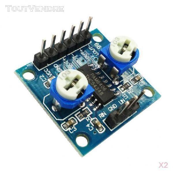 2x carte module amplificateur potentiomètre de volume