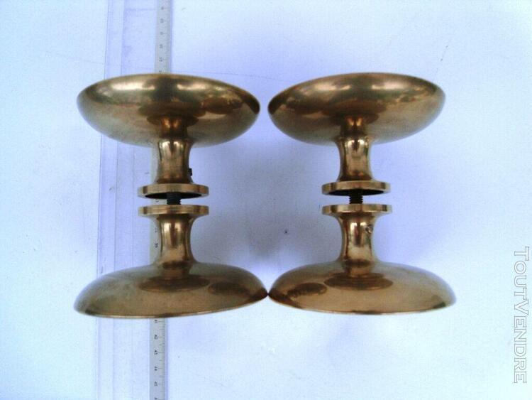 Poignées de porte bronze (2 paires)design années 1960 pour