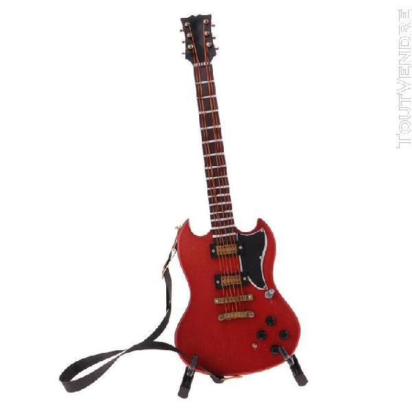 1/6 scale miniature guitare et support meubles de maison de