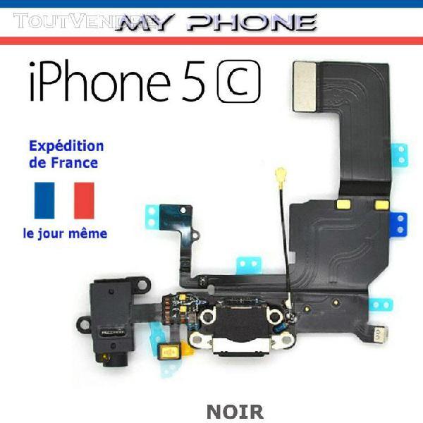 Connecteur de charge pour apple iphone 5c noir + microph