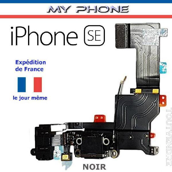 Connecteur de charge pour apple iphone se noir + microph
