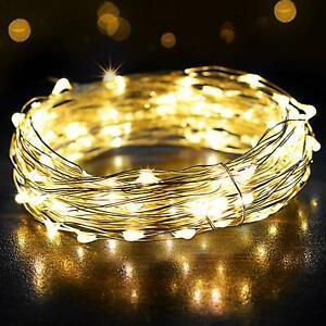 Guirlande lumineuse 12m 120led, omeril fairy lights ip65