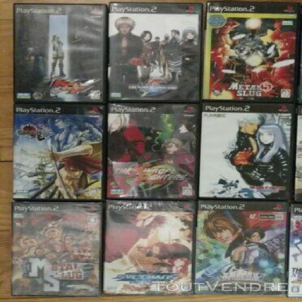 Lot de 16 jeux ps2 playstation 2 jap