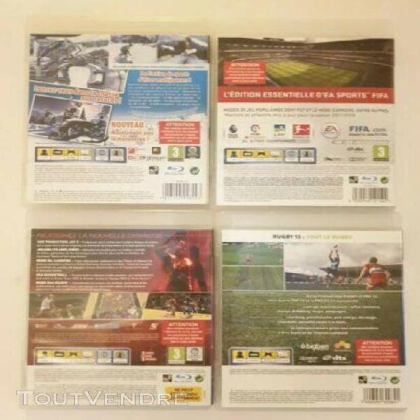 Lot de 4 jeux video ps3 winter sports go for gold 2011 nba2k